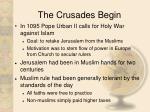 the crusades begin