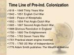 time line of pre ind colonization1