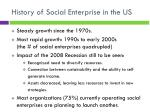 history of social enterprise in the us
