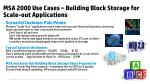msa 2000 use cases building block storage for scale out applications