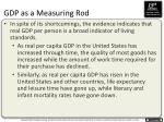 gdp as a measuring rod