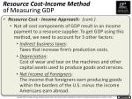 resource cost income method of measuring gdp1