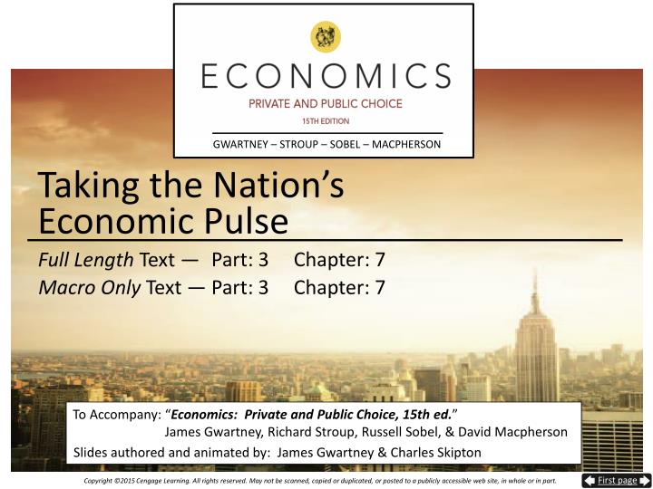 taking the nation s economic pulse n.