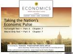 taking the nation s economic pulse