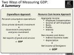 two ways of measuring gdp a summary