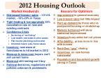 2012 housing outlook