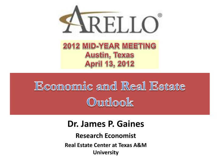 economic and real estate outlook n.