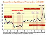 long term real home price index 1890 2010