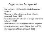 organization background