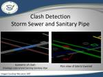 clash detection storm sewer and sanitary pipe