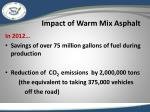 impact of warm mix asphalt