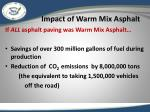 impact of warm mix asphalt1