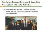 mindanao banana farmers exporters association mbfea activities