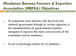 mindanao banana farmers exporters association mbfea objectives2