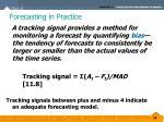 forecasting in practice