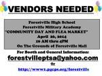 vendors needed