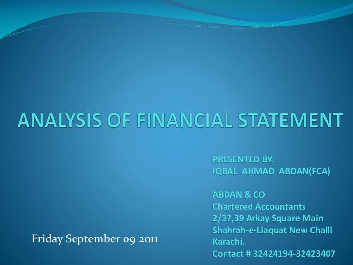 analysis of financial statement n.