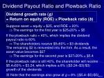 dividend payout ratio and plowback ratio1