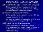 framework of security analysis