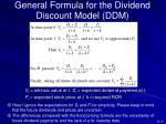 general formula for the dividend discount model ddm