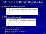 p e ratio and growth opportunities1