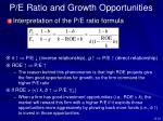 p e ratio and growth opportunities2