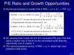 p e ratio and growth opportunities3