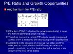 p e ratio and growth opportunities4