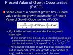 present value of growth opportunities pvgo
