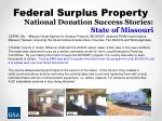 national donation success stories state of missouri