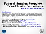 national donation success stories state of pennsylvania