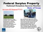 national donation success stories state of texas