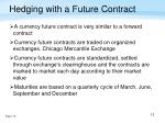 hedging with a future contract