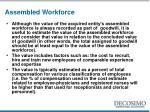 assembled workforce