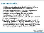 fair value gaap