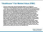 healthcare fair market value fmv