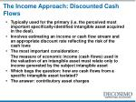 the income approach discounted cash flows