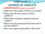 case study 1 sources of conflicts