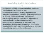 feasibility study conclusions