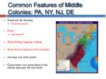 common features of middle colonies pa ny nj de