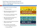 john green crash course 2 and 3 when is thanksgiving colonizing america natives the english1