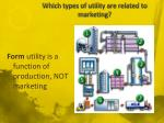 which types of utility are related to marketing