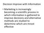 decision improve with information