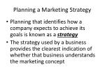 planning a marketing strategy