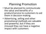 planning promotion