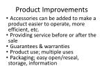 product improvements