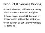 product service pricing