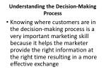 understanding the decision making process