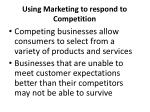 using marketing to respond to competition