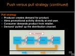 push versus pull strategy continued